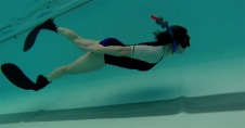 Nicky free-diving