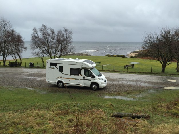 Parked at Sannox beach
